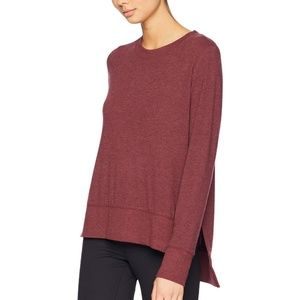 ALO Yoga Red Glimpse Long Sleeve Top (S)